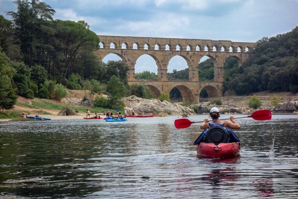 Canoe dans le Gardon  - Le pont du Gard